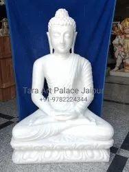 Pure White Marble Buddha Statue