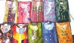 Ladies Printed Cotton Maxi Dress, Machine Wash, Size: M-xxl