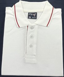 Fling plain white polo t shirt
