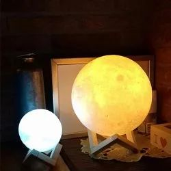 Plastic Cool White 3d moon lamp light, 5 W and Below, Voltage: 5v