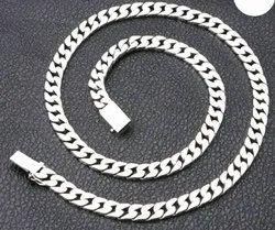 Casual Wear Men Silver Chain, Size: 22