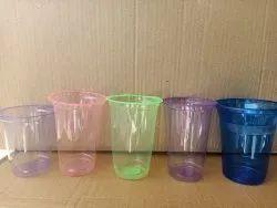 Multicolor Colour Plastic Heavy Glass, Thickness: 3gm Above
