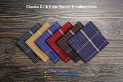 Dark Color Checks Handkerchiefs
