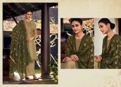 Silk Emb Suit With Jamawar Duppta
