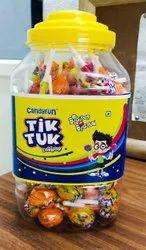 Candyfun Round Candy Lollipop, Packaging Type: Plastic Jar, Packaging Size: 12 Jar in One Carton