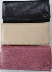 Black,white and pink Regular Ladies Leather Purse