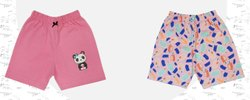 Regular Wear Pink Girl's Cotton Shorts, Size: 16 To 20, Age Group: 0 To 3 Yrs