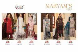 Normal Salwar Unstitched Rinaz Fashion Maryam Gold vol 7 Georgette Party Wear Pakistani Suits