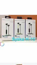 Wireless Black Syska H15 Bluetooth Headset, Bluetooth Version: 5.0