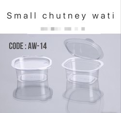 Plastic Square Pvc Small Chutney Wati, For Utility Dishes, Size: 35ml