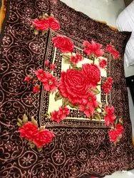 Floral Printed Mink Blanket