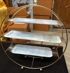 Gold Iron Buffet, Size/Dimension: 18x16 Inches