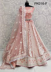 Lakhnavi Work Embroidery Lehenga Choli