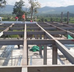 Plates & Slabs Mild Steel Structure Construction Service, in Gujarat