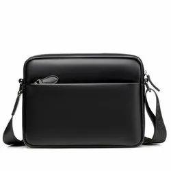 PU Leather Shoulder Bag High Capacity Man Messenger Bag Men Cross Body