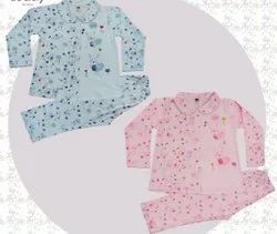 Cotton Girl's full sleeves night suit