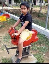Spring rider horse