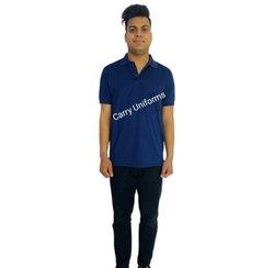 Male Cotton Mens Royal Blue T Shirt