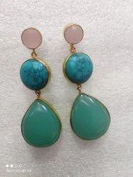 Green ston earring