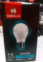 Cool daylight Havells 9w Led Bulb