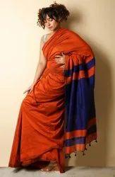 Handwoven Plain Silk Cotton Sarees