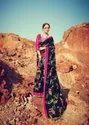 Linen saree with pumpum boder
