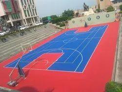 Synthetic Acrylic Basketball Court 5 Layer coating