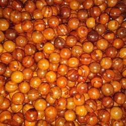 Brown Round Wooden Beads