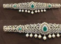 Real Diamonds Round Diamond Waist Belt Uddyanam, Weight: 180 Grams