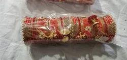 Red golden Seep Wedding Chura