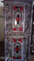 Silver Iron Metal Door, Thickness: 6mm, Material Grade: A1