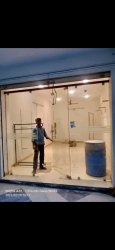 Transparent Toughened Glass 12mm Partitions, Size: 101-500 Square Feet, Shape: Flat