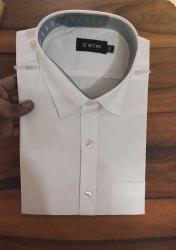 Carry Uniforms Polycotton Fabric Men White Shirts, Machine wash