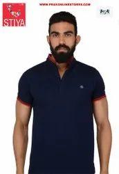Stiya Polo Neck Cotton Unisex T Shirts