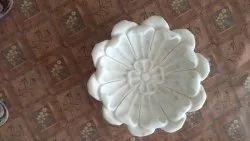 White Decorative Marble Plates, For Decoration And Storage, 9 Inches Diameter