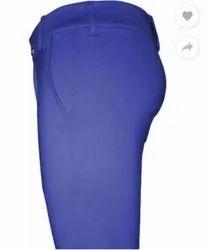 Blue Men Casual Pants