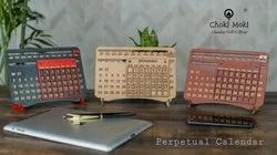 2022 English Perpetual Wooden Calendar, For Promotion