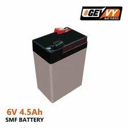 Gevvy Battery 6v 5ah, 720gm, Capacity: 5000mah