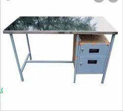 Metal Office Table, Powder Coating