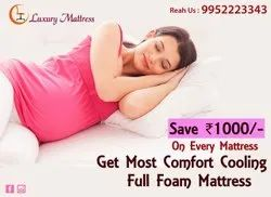 Maroon Netted Cloth Spring Mattress, 6.25 X 5 X 8, Thickness: 8 Inch
