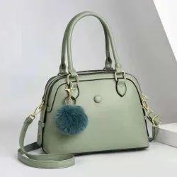 Black Pu Leather Designer Hand Bag