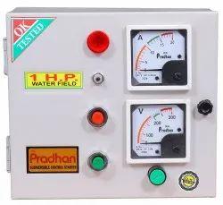 Pradhan MS 1 HP Analogue Meter Submersible Pump Control Panel, For Motor Starter, 240v Ac
