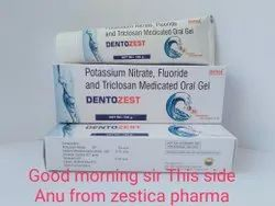 Potassium Nitrate Triclosan With Fluoride Medicated Oral Gel Dentozest 100gm
