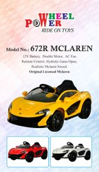 1 Yellow Kids Car, Double Motor