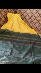 Dovi Bhagalpuri Kota Silk Saree, 6 .5 M ( WITH BLOUSE PIECE), Hand Made