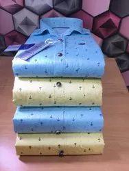 Button Art Cotton Blend Mens Formal Shirts, Machine wash