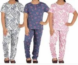 Cotton Girls Night Suit, Top and bottom