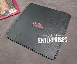 Customizable Rectangular Leather Table Mats, Size: 13 X 13