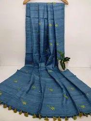 Tussar Ghicha Silk Buta Weaving Sarees