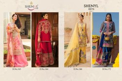 Shenyl Fab Present Shenyl Hits Vol 3 Pakistani Georgette Party Wear Suits